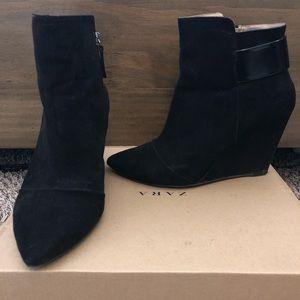 Zara wedge booties size 39